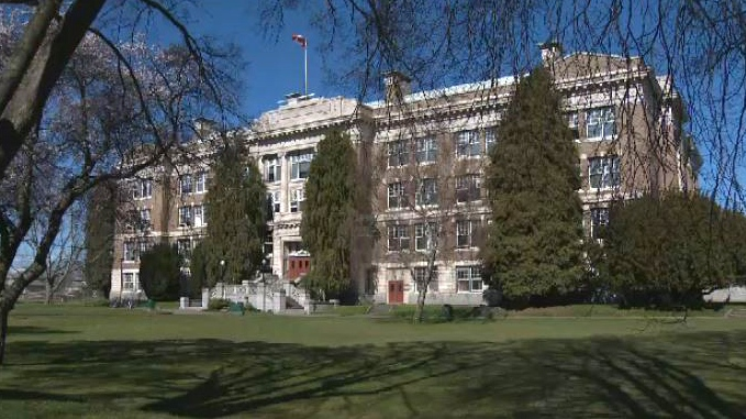 At 104 years old, Vic High School is often referred to as the oldest school in British Columbia. March 15, 2018. (CTV Vancouver Island)