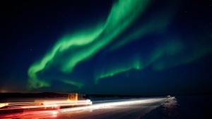 A brilliant show of the aurora borealis near Yellowknife, N.W.T. is shown in the night sky on Thursday March 8, 2012. (Bill Braden / THE CANADIAN PRESS)