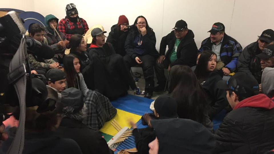 Residents of Hatchet Lake are shown in this file photo (Creeson Agecoutay / CTV Regina)