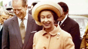 This Nov. 8, 1976, file photo shows Britain's Queen Elizabeth II during the Royal visit to Luxembourg. (AP Photo)