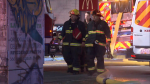 Witnesses said a man walked into a McDonald's on Commercial Drive and started pouring gasoline on the floor Thursday night.