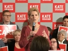 Premier Kathleen Wynne makes a speech in London on Friday, March 16, 2018. (Jim Knight / CTV London)