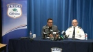 Gatineau Police discuss arrest at news conference.