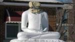 Buddha statue vandalized