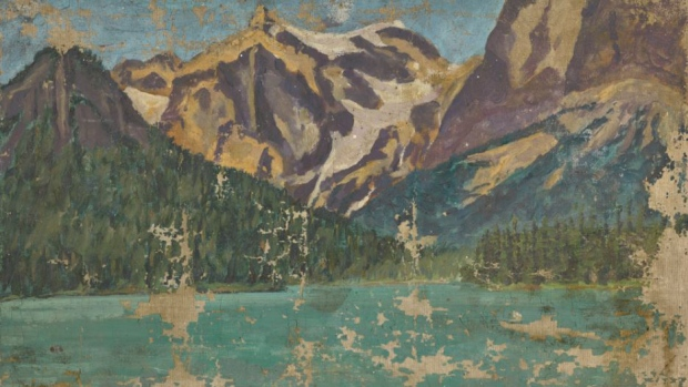 rare winston churchill painting of b c lake sells for 87 000