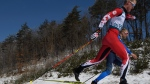 Mark Arendz of Canada competes during the Cross Country Skiing Men's Standing 10km Classic at the Alpensia Biathlon Centre in Pyeongchang, South Korea at the 2018 Winter Paralympics Saturday, March 17, 2018. (Thomas Lovelock/OIS/IOC via AP)