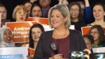Ontario NDP Leader Andrea Horwath speaks at an announcement in Toronto Saturday March 17, 2018.