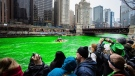 Chicago River transforms in annual tradition