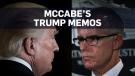 Fired FBI deputy director kept memos on Trump: AP