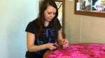 As Toronto police investigate Hedley frontman Jacob Hoggard amid sexual misconduct allegations, long-time fan Jen Laszchuk helped make 1,500 paper hearts to hand out at a Winnipeg concert in support of the band. (CTV Winnipeg)