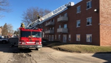 A number of residents were displaced after a fire at 800 Wallace St. in Wallaceburg on Sunday, March 18, 2018. (Photo: Chatham-Kent fire department)