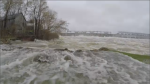 The generating station at the Carillion dam in Saint-Andre-D'Argenteuil sits on the Ottawa River. Most of the water that passed through here last spring flooded towns like Rigaud. (CTV Montreal)