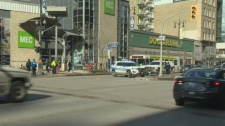 The accident happened at Portage and Donald Street.