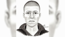 LRPS have released this sketch of a suspect wanted in connection with an assault on February 13. (Supplied)