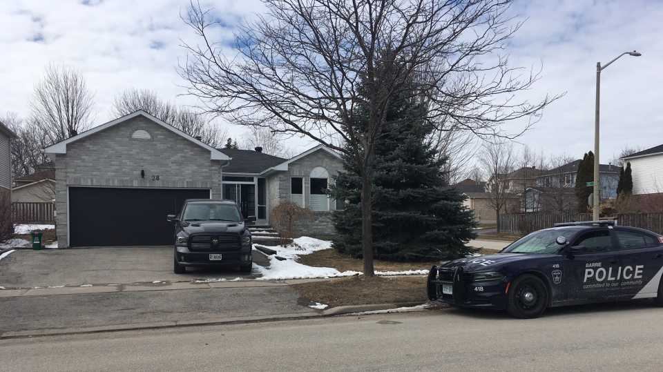 A 10-month-old boy has died after a carbon monoxide leak at a home in Barrie, Ont. on March 18, 2018 (CTV Barrie Sean Grech)