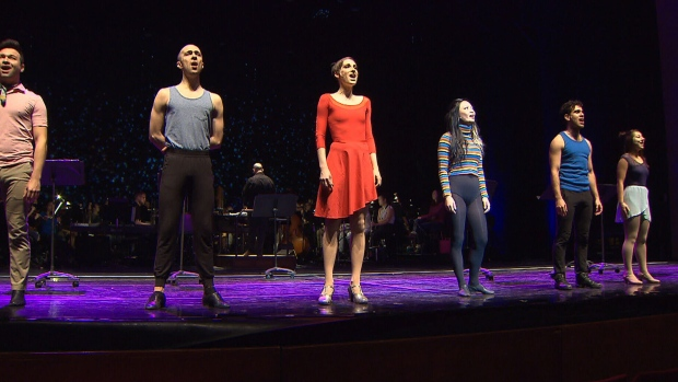 """Catherine Wreford performs in """"A Chorus Line"""""""