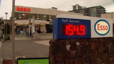 Gas prices hit 154.9 cents a litre in Vancouver on March 18, 2018.