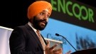 Minister of Innovation, Science and Economic Development Navdeep Bains speaks during an announcement on investments in 5G technology by the Ontario, Quebec and federal governments, in Ottawa on Monday, March 19, 2018. THE CANADIAN PRESS/Justin Tang
