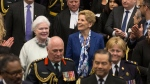 Ontario Lt.-Governor Elizabeth Dowdeswell, left, and Ontario Premier Kathleen Wynne enter the Legislative Chamber before the Throne Speech at Queens Park, in Toronto on Monday, March 19, 2018. THE CANADIAN PRESS/Chris Young