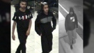 Three suspects in an attack in Mississauga are shown in still images taken from surveillance video and made public by Peel Regional Police.