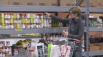 The Barrie Food Bank is hoping to collect 75,000 pounds of food by the end of April. (Beatrice Vaisman/CTV Barrie)