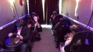 Players test out the virtual reality arcade games in the Mobile Reality trailer. (CTV)