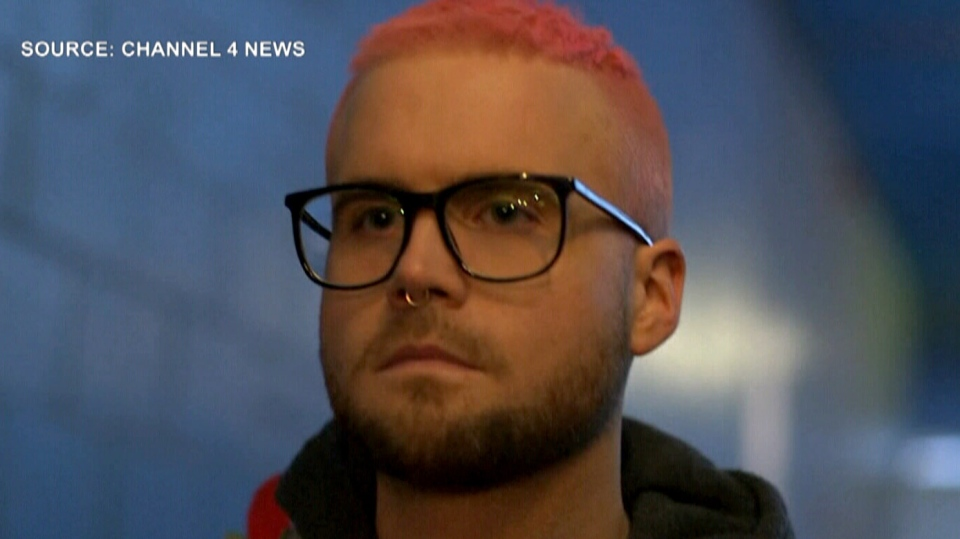 Christopher Wylie, a 28-year-old originally from British Columbia, speaks to Britain's Channel 4 News about Cambridge Analytica.