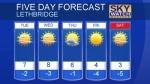 Lethbridge forecast March 19, 2018