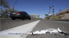 Uber self-driving SUV crash scene