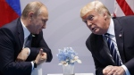 U.S. President Donald Trump meets with Russian President Vladimir Putin at the G20 Summit in Hamburg, Germany, on July 7, 2017. (Evan Vucci / AP)