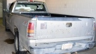 The RCMP has released photos of a truck suspected to be involved in a fatal hit-and-run collision in Saint-Charles, N.B. last month. (New Brunswick RCMP)