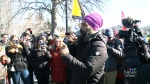 Jagmeet Singh visits striking workers