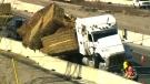 Hay spill n highway