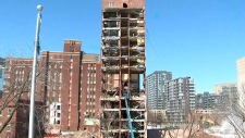 Children's hospital being pulled down