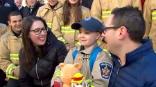 Matteo Papa, who is battling cancer, had his birthday dreams come true thanks to the kindness of Vaughan Fire Services.
