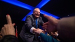 Ontario PC Leader Doug Ford greets supporters after holding a unity rally in Toronto on Monday, March 19, 2018. THE CANADIAN PRESS/Chris Young