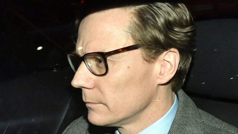 In this file photo, Chief Executive of Cambridge Analytica Alexander Nix, leaves the offices in central London, Tuesday March 20, 2018. (Dominic Lipinski/PA via AP)