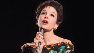 "This undated image released by Pathe shows Renee Zellweger as she portrays Judy Garland in a new film called ""Judy"". The movie is set in the late 1960s near the end of Garland's career and will feature the behind-the-scenes drama before Garland died in the city at age 47 in 1969. (Pathe via AP)"