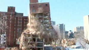 Extended: Moment old Montreal hospital demolished