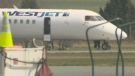 First responders were called to the Nanaimo Airport after the cabin of a WestJet plane filled with smoke minutes before it was set to land. March 20, 2018. (CTV Vancouver Island)