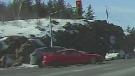Sudbury Police looking for red 2-door car