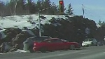 Sudbury Police looking for red 2-door car