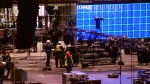 Crews prepare Rogers Arena for the 2018 Juno Awards, to be hosted in the Vancouver venue on March 25, 2018.