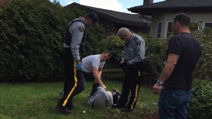 A distraught man died after an interaction with police in South Surrey on the afternoon of Monday, March 19, 2018.