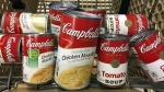 A variety of Campbell's soups in a grocery cart at a store in Phoenix, May 23, 2017. (Ross D. Franklin / AP)