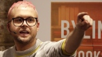 Chris Wylie gives a talk entitled 'The Most Important Whistleblower Since Snowden: The Mind Behind Cambridge Analytica' in London, on March 20, 2018. (Matt Dunham / AP)