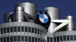 The logo of German car manufacturer BMW visible at the headquarters in Munich, Germany on May 10, 2017. (AP Photo/Matthias Schrader,file)