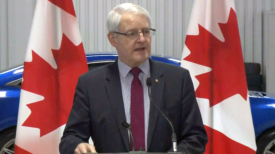 Transport Minister Marc Garneau makes an announcement in Gatineau, Que., Wednesday, March 21, 2018.