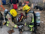Firefighters rescued pets after a blaze on Princess Street in Chatham on Wednesday, March 20, 2018.