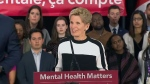 Premier Kathleen Wynne speaks about her government's plan to invest in 'rebuilding' the mental health system on March 21, 2018.